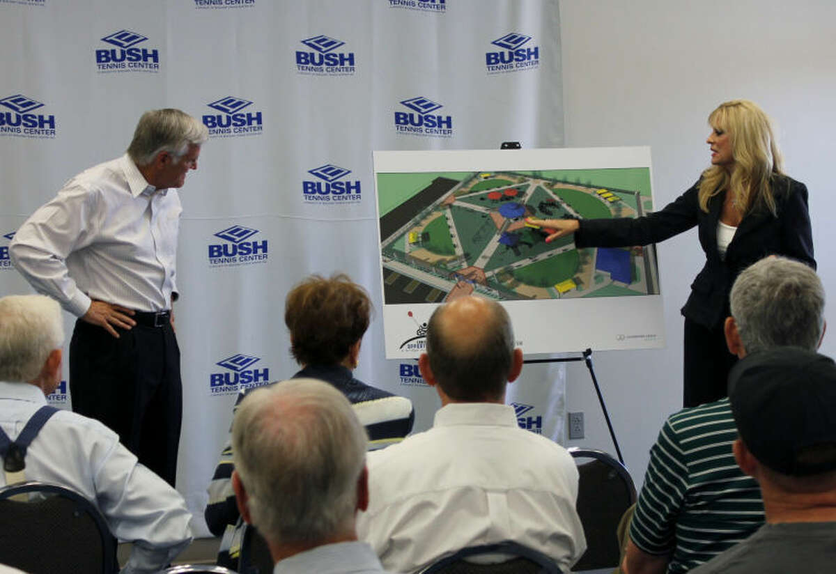 Steve and Jan Davidson talk about the new Chris Davidson Opportunity Park to be constructed west of the Bush Tennis Center on Briarwood Avenue.