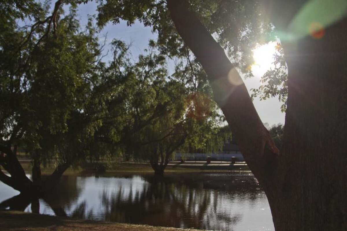 The sun shined brightly across the pond at Grafa Park Sunday after 1.83 inches of rainfall early Sunday. Midland has now had 3.16 inches of rain this year. Tyler White/Reporter-Telegram