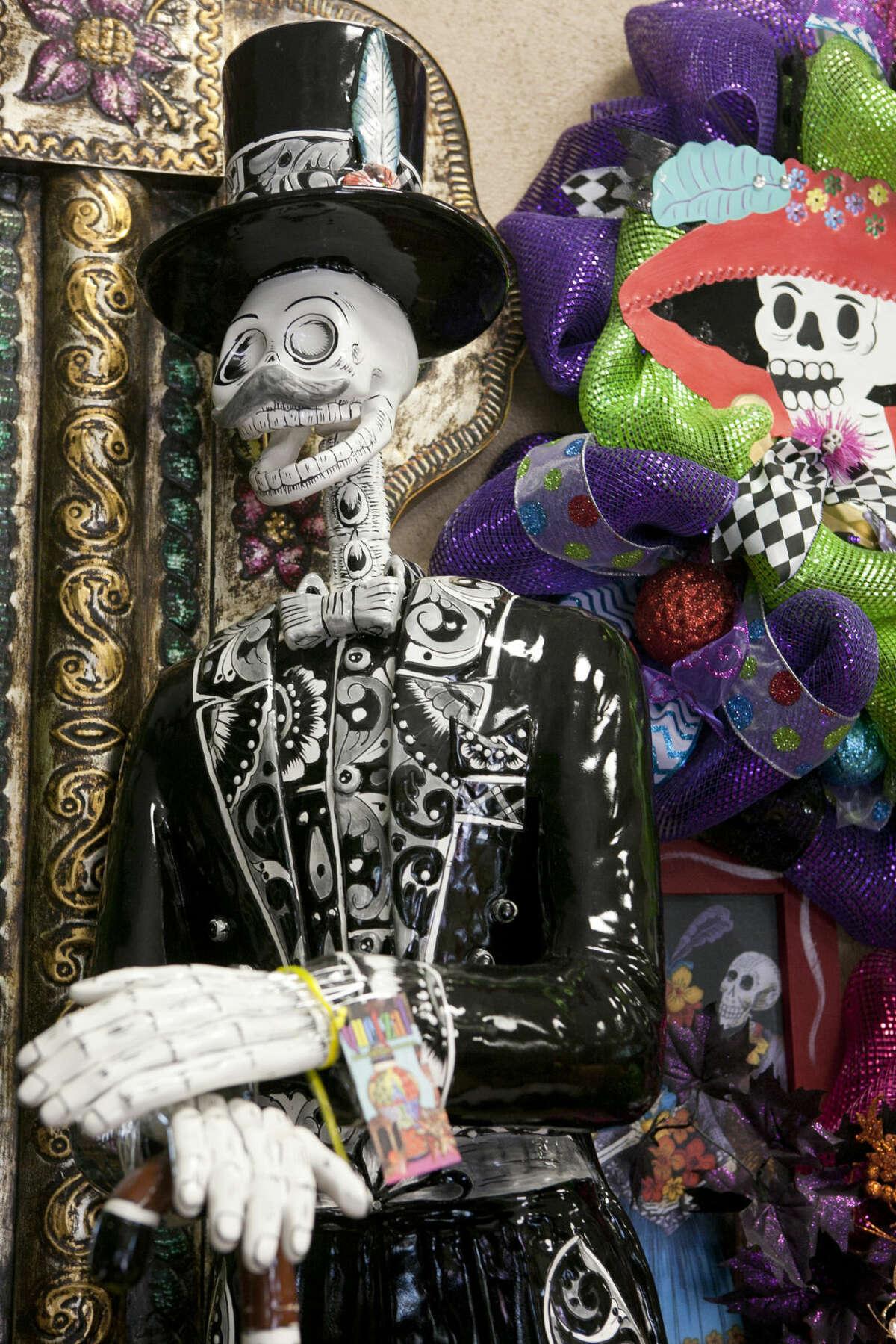A Dia de Los Muertos (Day of the Dead) skeletal figure. James Durbin/Reporter-Telegram