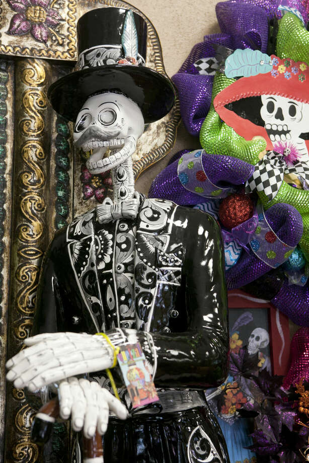 A Dia de Los Muertos (Day of the Dead) skeletal figure. James Durbin/Reporter-Telegram Photo: James Durbin
