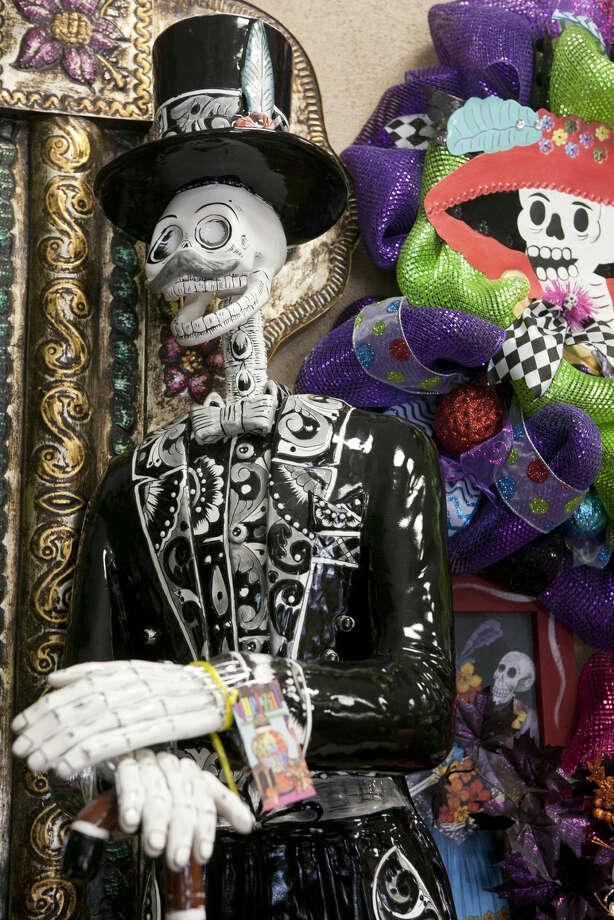 A Dia de Los Muertos (Day of the Dead) skeletal figure. James Durbin/Reporter-Telegram Photo: James Durbin