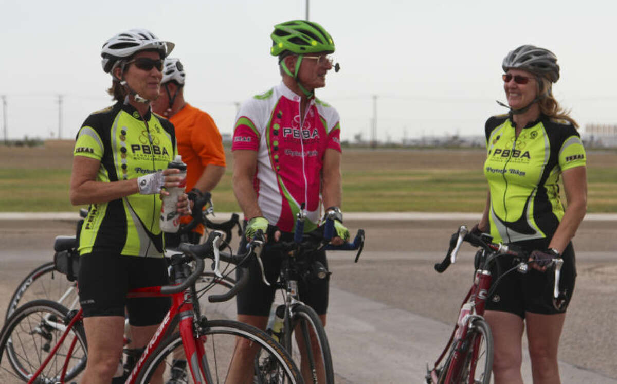 Many people gathered outside the Wagner Noel Performing Arts Center in Midland to partake in Wednesday's annual Ride of Silence in remembrance of fallen cyclists. Tyler White/Reporter-Telegram