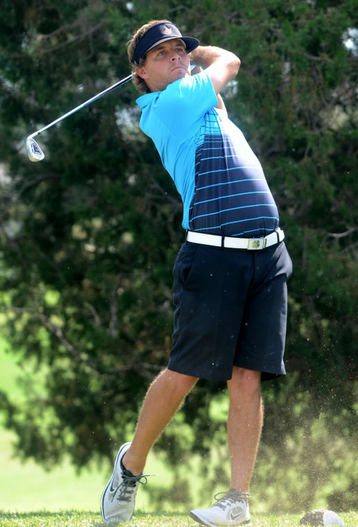 Brady Shivers tees off during the first day of the Stampede Golf Tournament Friday at Ranchland Hills Country Club. James Durbin/Reporter-Telegram