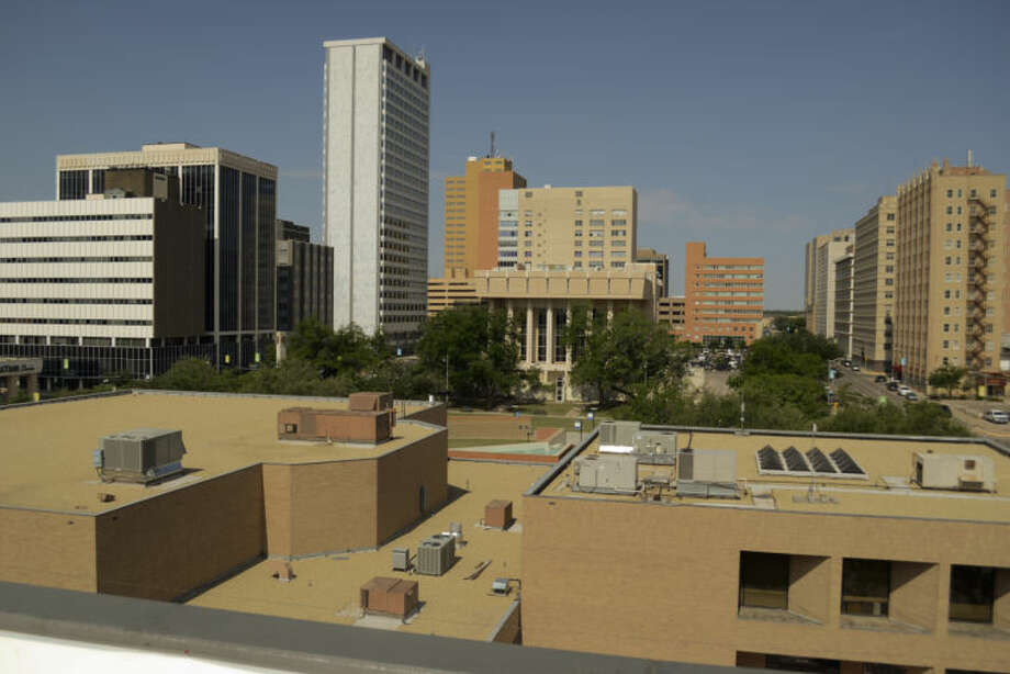 View of downtown from the roof of the Wall Street Lofts. Tim Fischer\Reporter-Telegram Photo: Tim Fischer