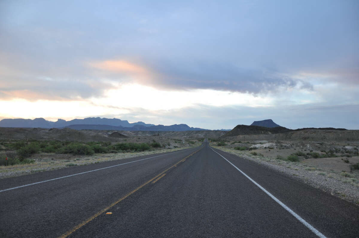 U.S. 385, the road to Marathon from big Bend National Park.