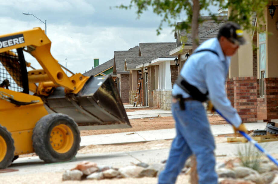 Construction at the Betenbough Homes subdivision located on Champions Drive near the sports complex in 2014. James Durbin/Reporter-Telegram Photo: James Durbin