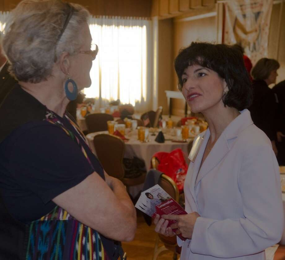 (FILE PHOTO) Christi Craddick speaks with Jan Brown Wednesday before the Midland County Republican Women's luncheon. Photo by Tim Fischer\ Reporter-Telegram Photo: Tim Fischer