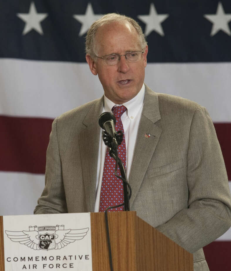 Rep. Mike Conaway speaks Monday at the Memorial Day ceremony at the CAF. Tim Fischer\Reporter-Telegram Photo: Tim Fischer