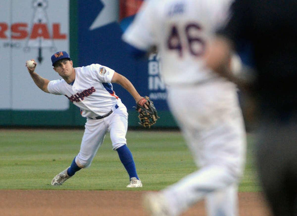 Rockhounds' Conner Crumbliss fields the ball against Corpus Christi on Thursday at Security Bank Ballpark. James Durbin/Reporter-Telegram