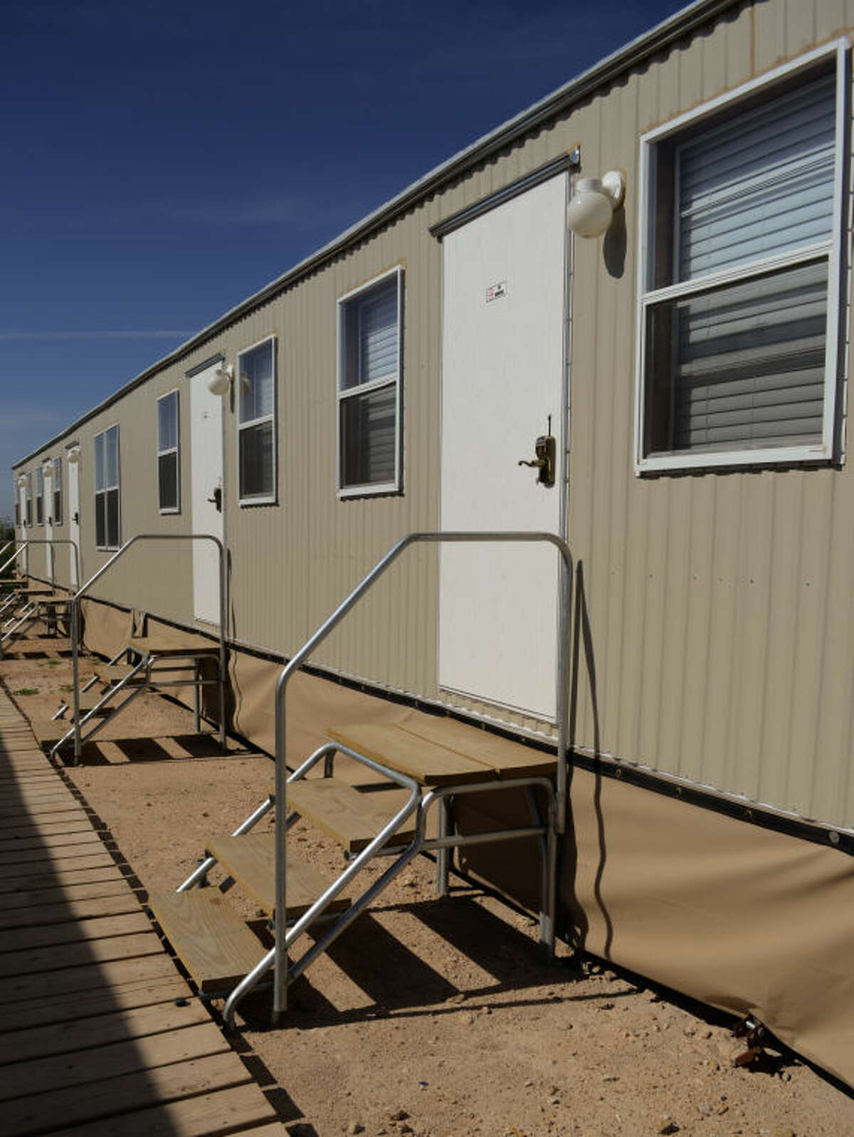 Crew Support Services offers affordable temporary housing with 3 and 4 bedroom trailers. Tim Fischer\Reporter-Telegram