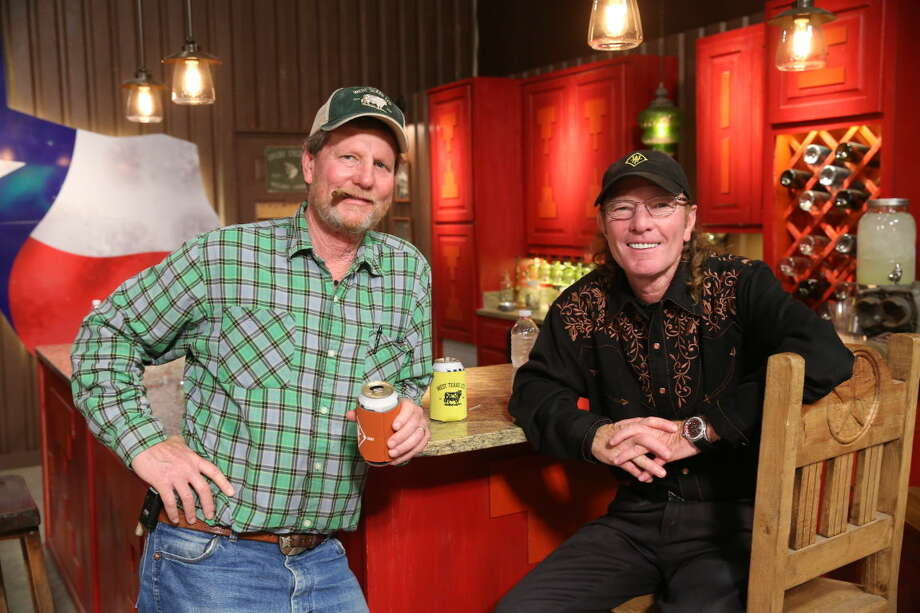 "Midlander Rooster McConaughey, left, and Odessa native Butch Gilliam are seen on the set of ""West Texas Investors Club."" (Photo by: Jesse Grant/CNBC) Photo: CNBC"