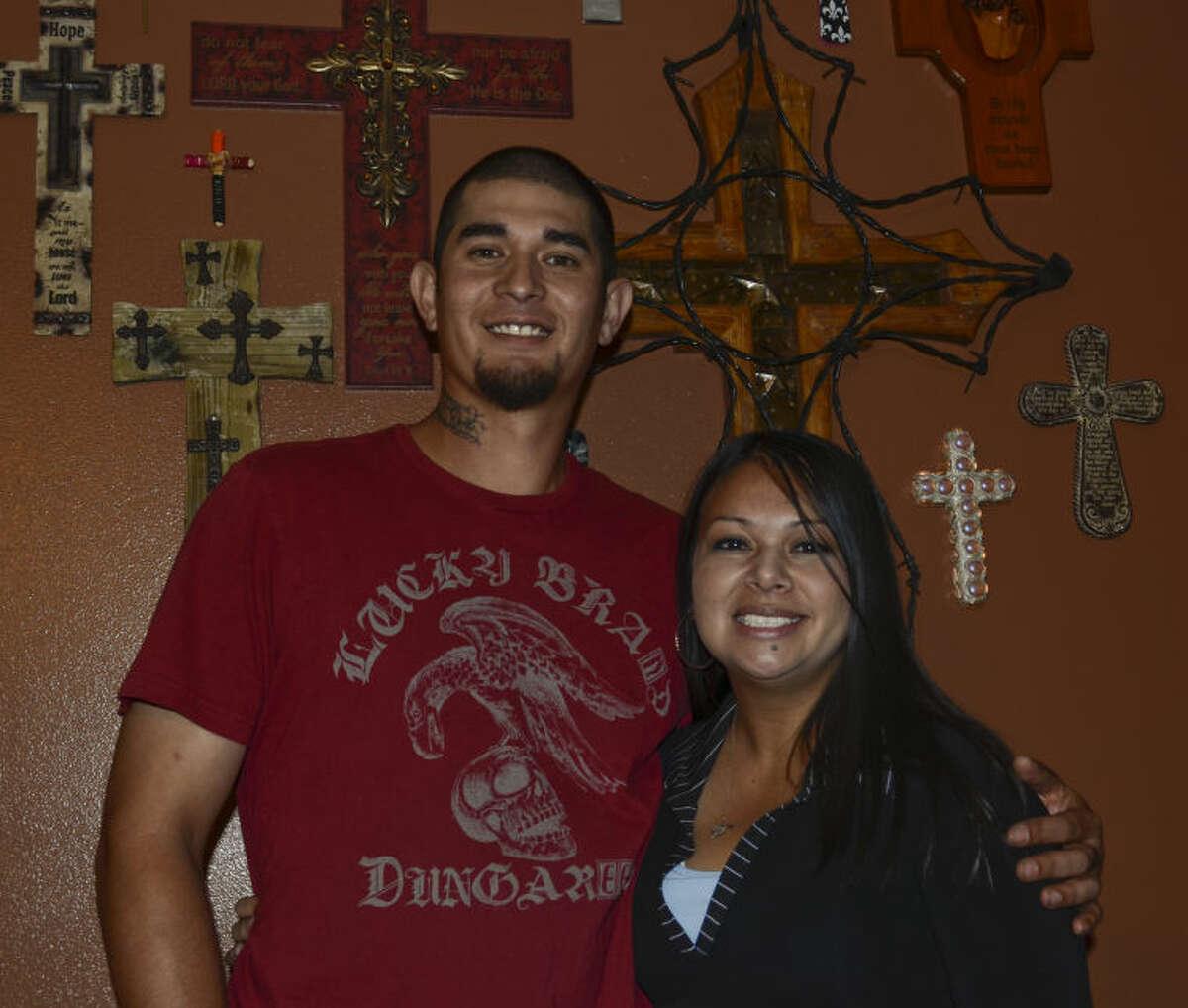 Arnold and Crystal Ochoa are foster parents. Tim Fischer\Reporter-Telegram