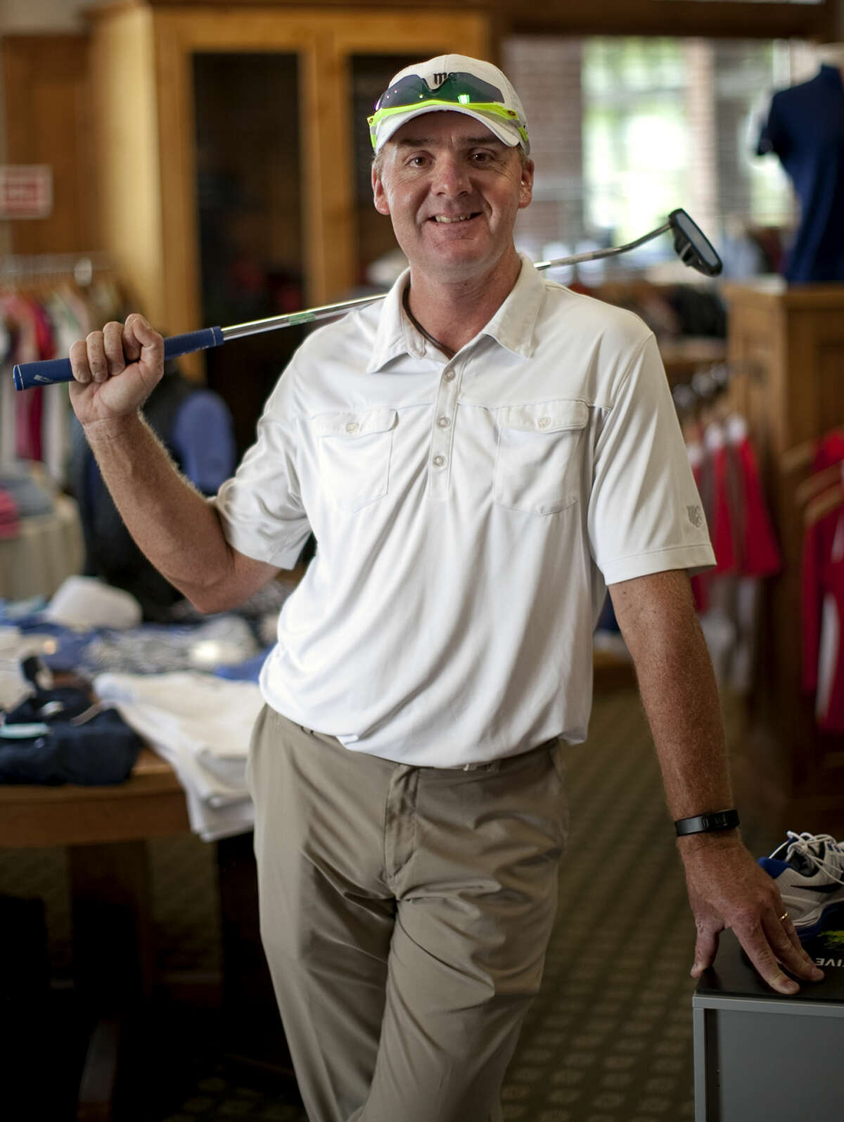Steven Young, assistant pro at Midland Country Club, in portrait Thursday, July 30, 2015 at the pro shop. James Durbin/Reporter-Telegram