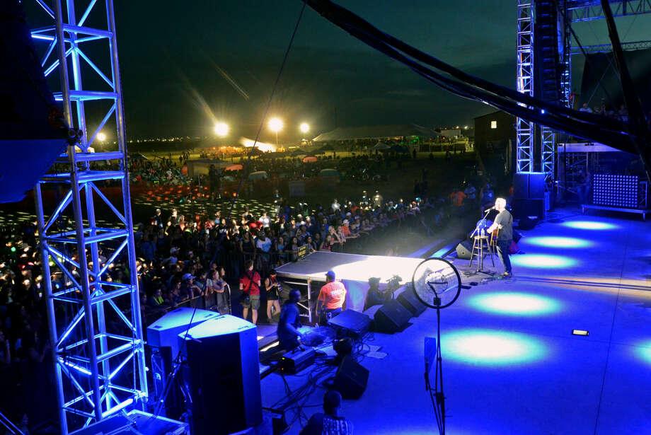 Christian artist Jimmy Needham performs Friday, August 7, 2015 during the Rock The Desert music festival. James Durbin/Reporter-Telegram Photo: James Durbin