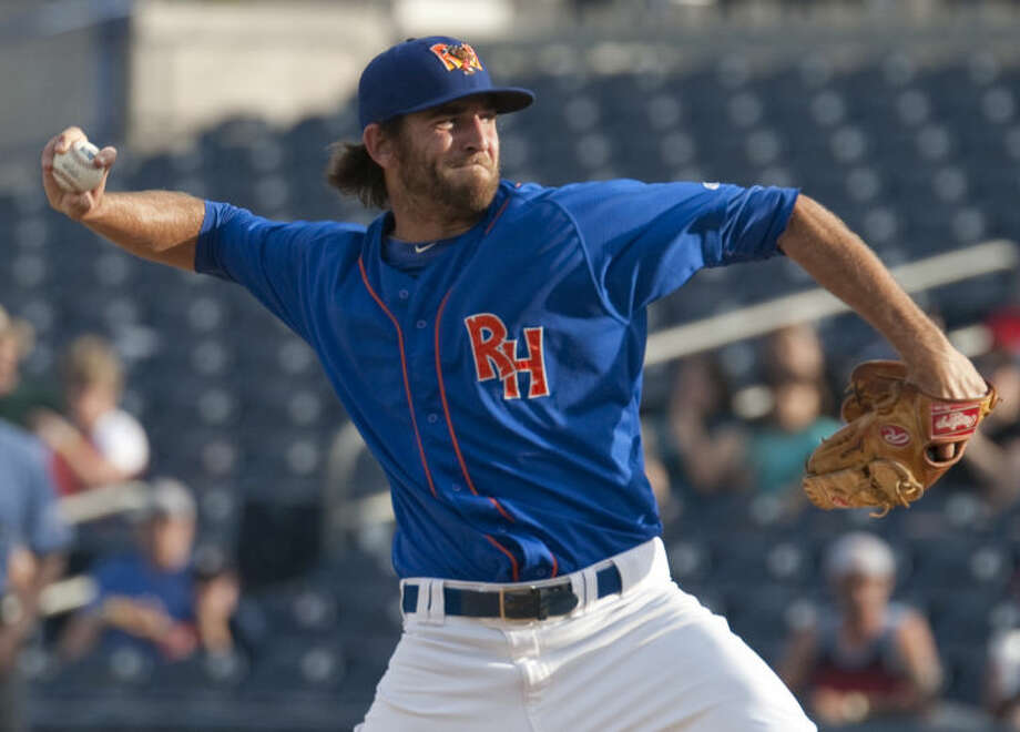 RockHounds starting pitcher Chris Jensen delivers a pitch against Frisco RoughRiders at Security Bank Ballpark earlier this season. Tim Fischer\Reporter-Telegram Photo: Tim Fischer