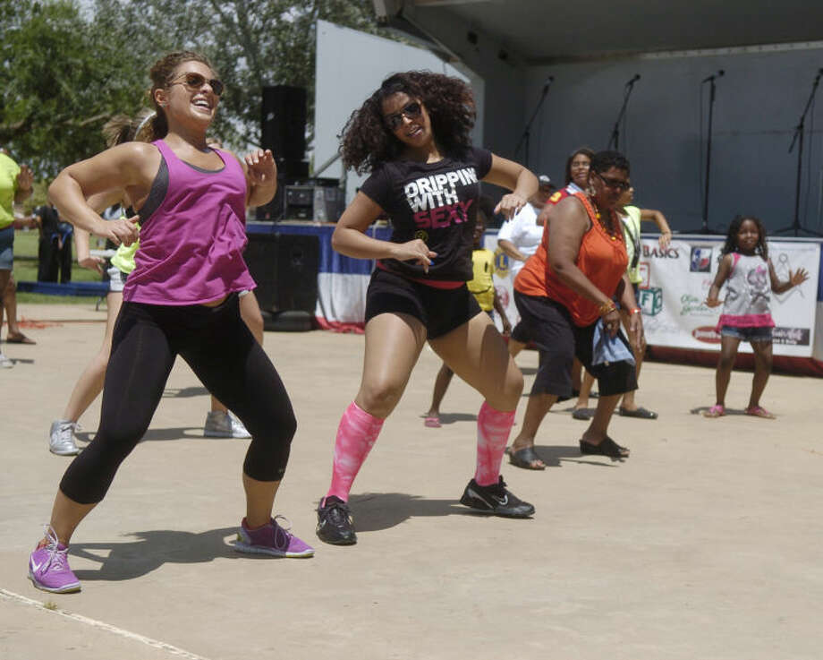 Zumba demonstration during the Juneteenth parade Saturday. James Durbin/Reporter-Telegramf Photo: JAMES DURBIN
