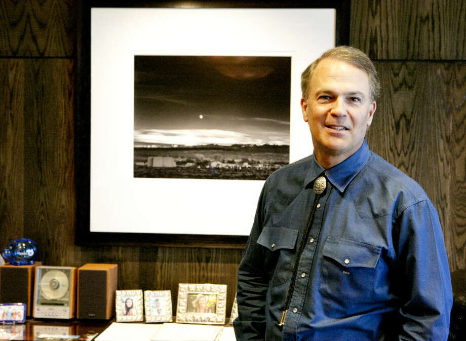 West Texas oilman David Arrington has an extensive collection of Ansel Adams prints in his downtown Midland office, photographed March 28, 2014. James Durbin/Reporter-Telegram Photo: James Durbin