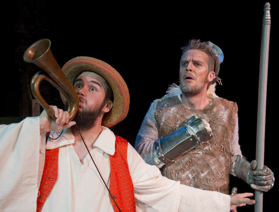 Billy Baker as Sancho with Drew Henry as Don Quixote in 'Man of La Mancha.' Photo: Tim Fischer