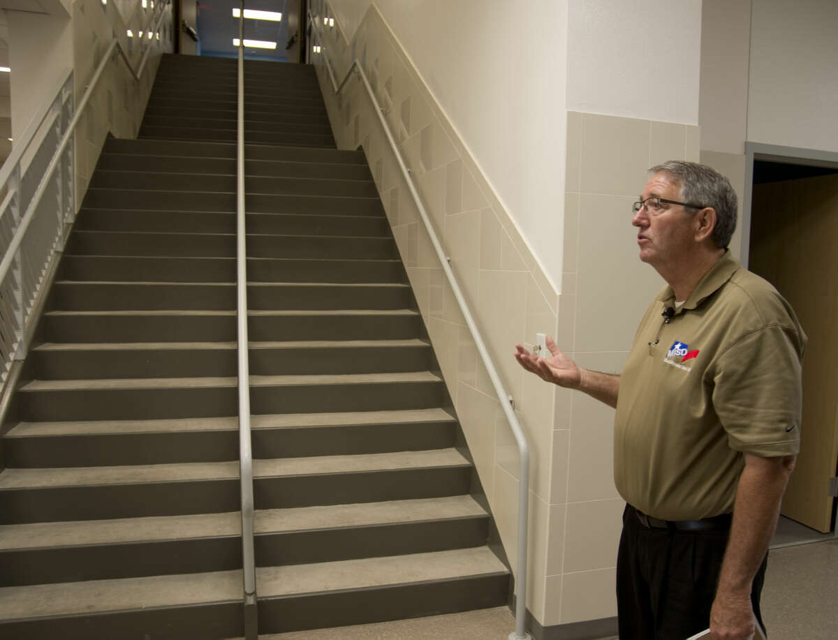 James Riggen, chief operations officer with MISD, talks Thursday 8-13-2015 about the need to build two story elementary schools like Bunche Elementary to have floor space available for all the classrooms. Tim Fischer\Reporter-Telegram