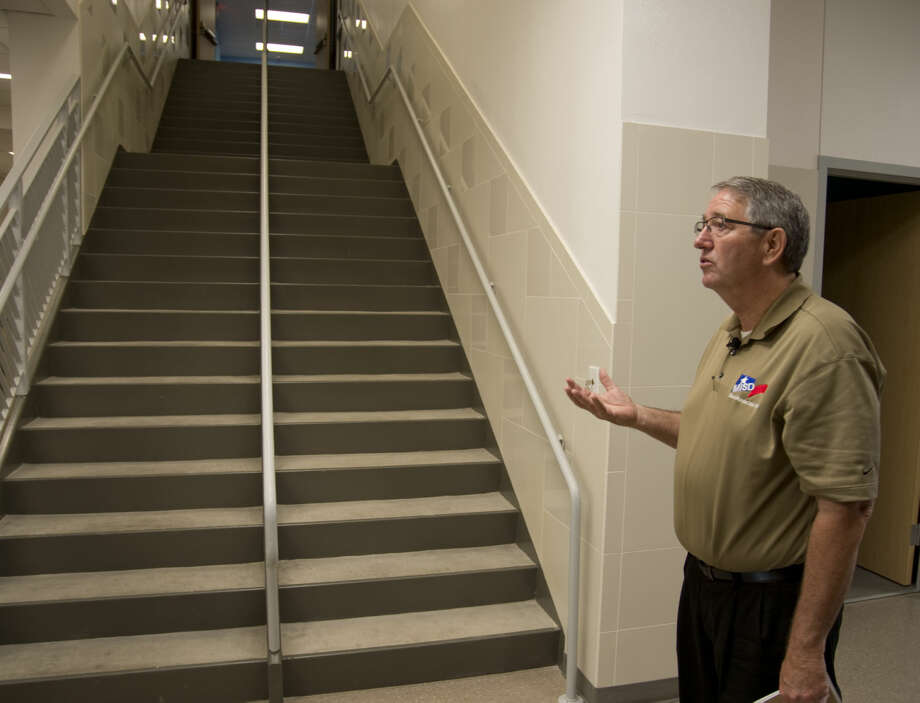 James Riggen, chief operations officer with MISD, talks Thursday 8-13-2015 about the need to build two story elementary schools like Bunche Elementary to have floor space available for all the classrooms. Tim Fischer\Reporter-Telegram Photo: Tim Fischer