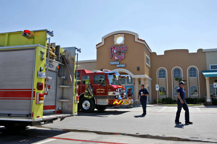 Midland emergency personnel respond to a fire at the Rosa's Tortilla Factory located on Andrews Highway on Thursday. James Durbin/Reporter-Telegram Photo: James Durbin
