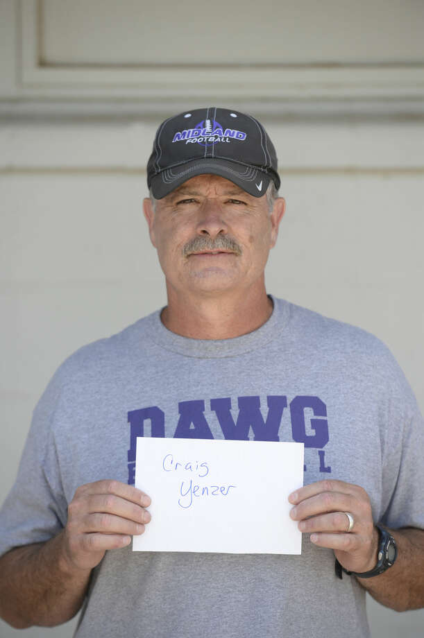 Midland High School football mugs 2015 - Head Coach Craig Yenzer Photo: James Durbin