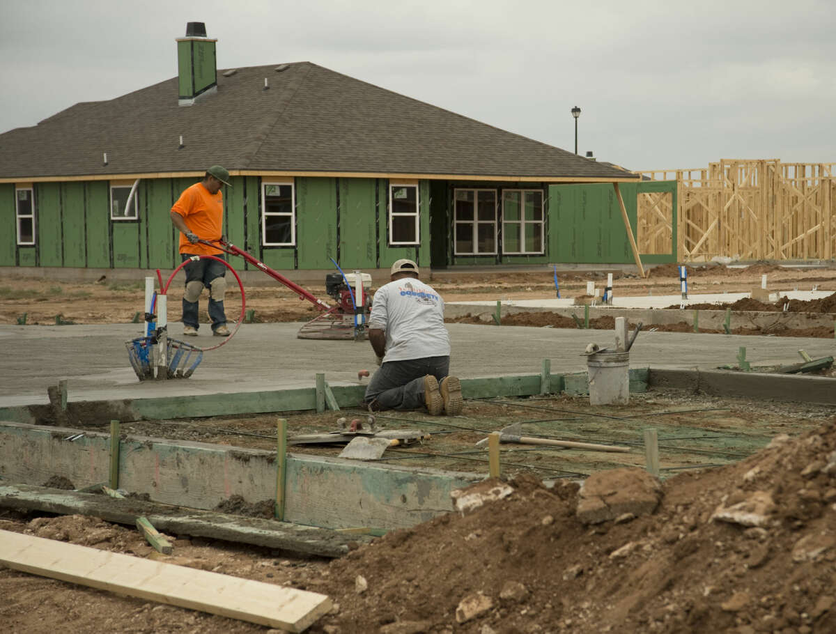 New homes being built Monday, 6-22-15, in the Lone Star Trails development off N. Big Spring Street. Tim Fischer\Reporter-Telegram