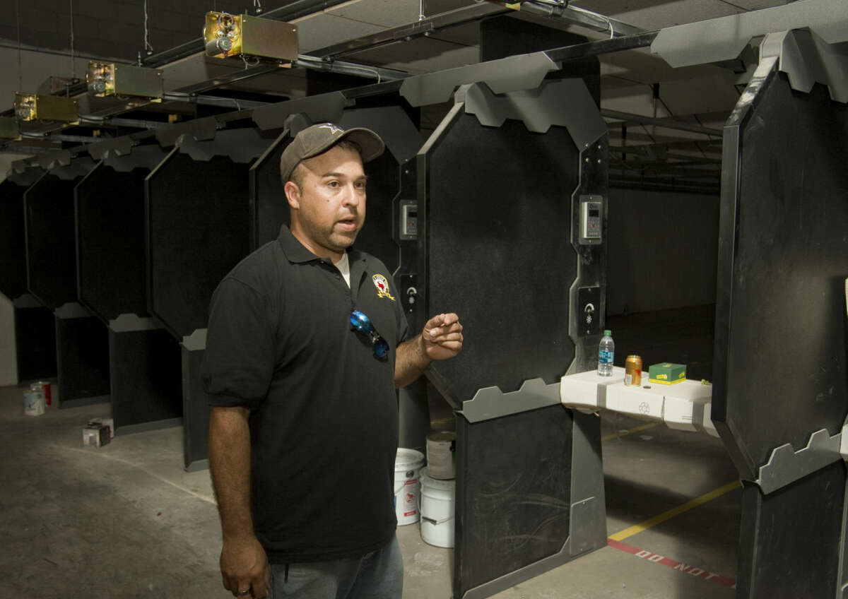 Tony Grijalva, owner of Family Armory & Indoor Range (FAIR), speaks Wednesday 8-19-2015 about the nearly completed new indoor shooting range off 1788 near Hwy 191. Tim Fischer\Reporter-Telegram