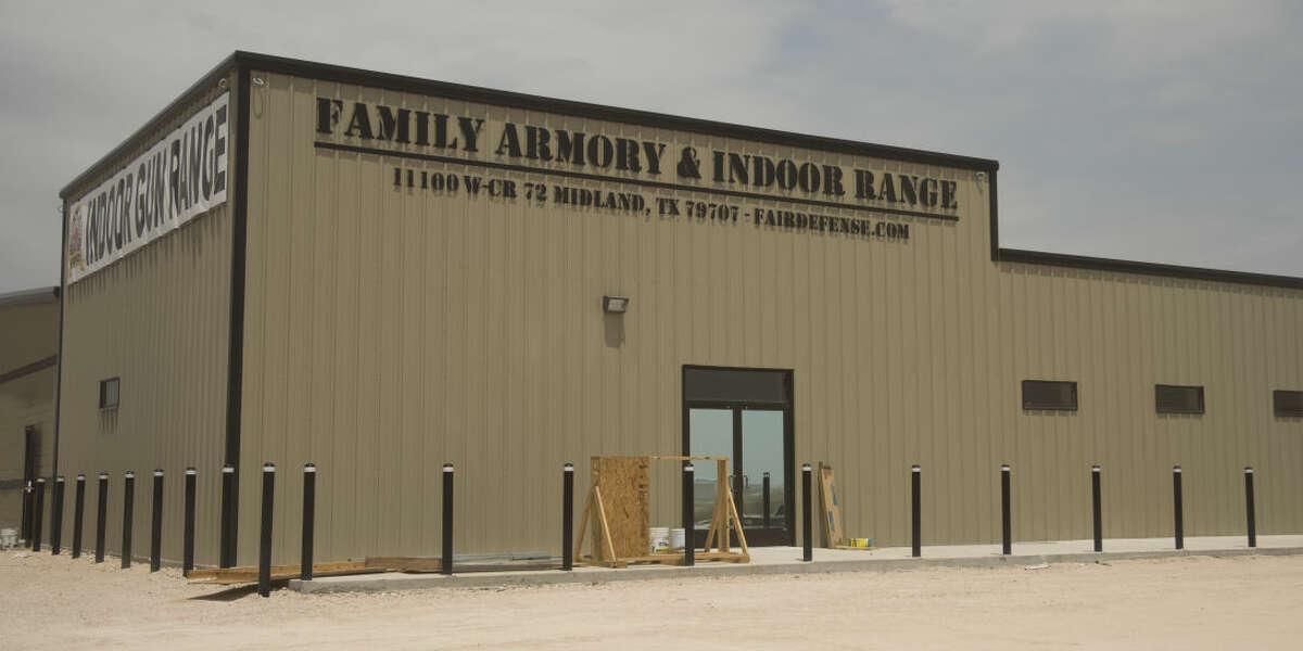 New indoor gun range seen Wednesday 8-19-2015, is under construction off 1788 near Hwy 191. Tim Fischer\Reporter-Telegram
