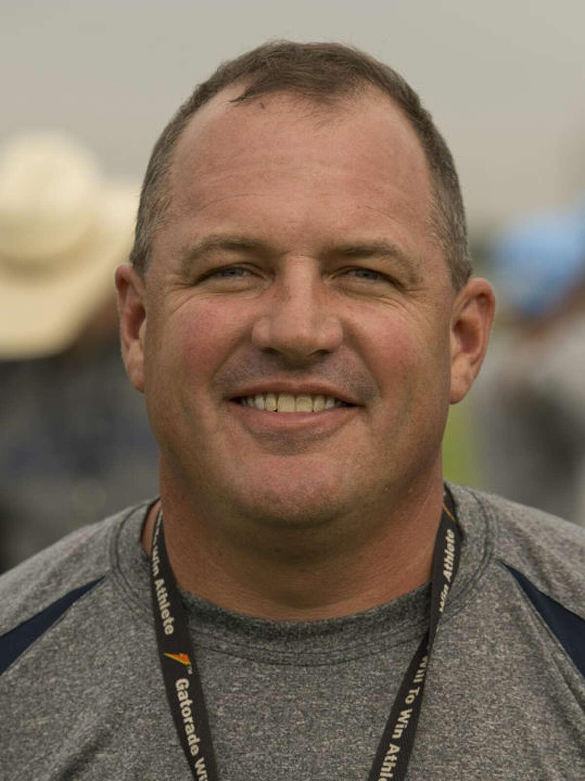 Coach Shad Hanna Monday 8-3-15. Tim Fischer\Reporter-Telegram