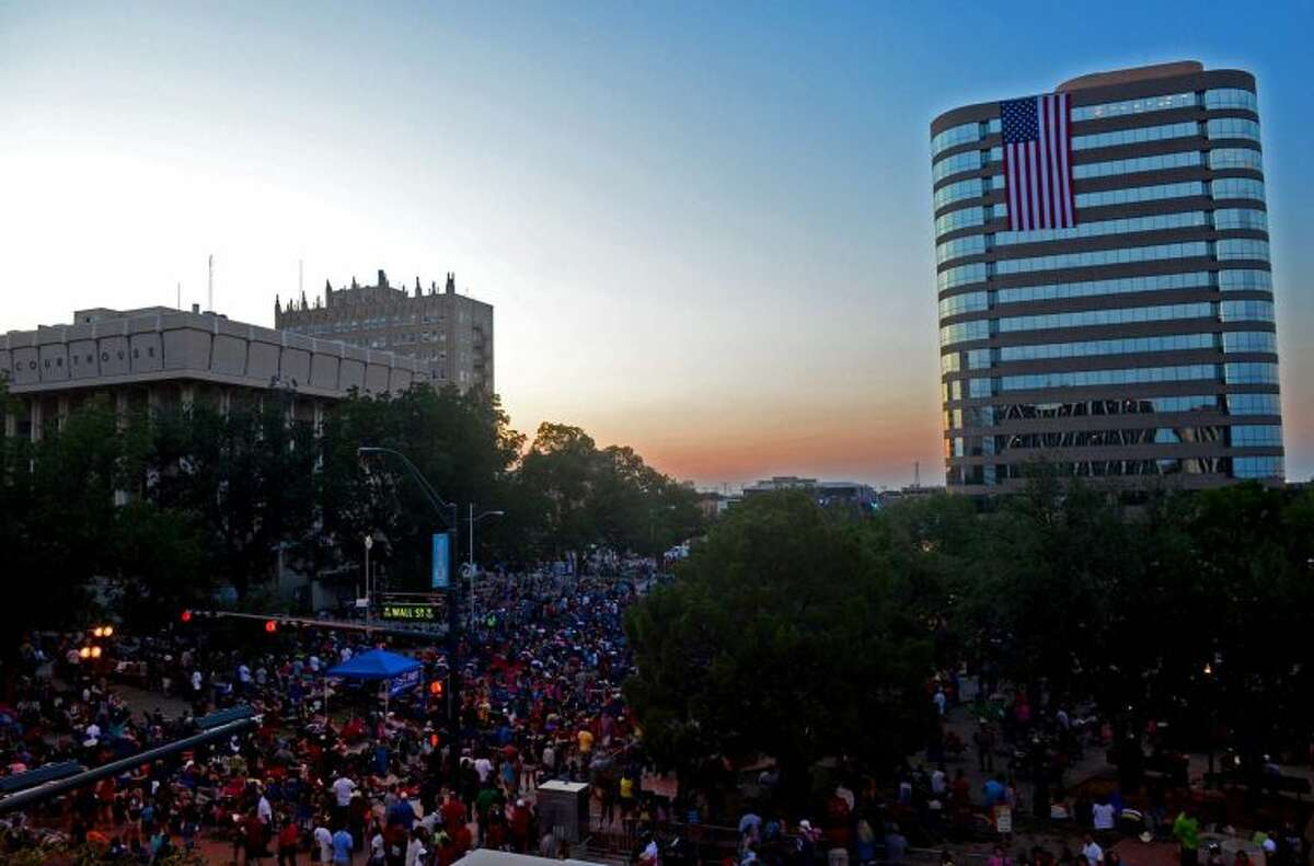 General view of the Star-spangled Salute festival this past summer in downtown Midland. James Durbin/Reporter-Telegram