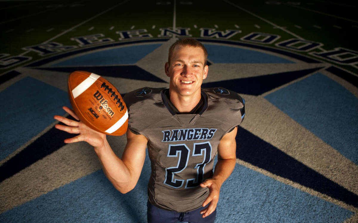 Greenwood running back Jake Rogers in portrait Wednesday, July 22, 2015 at the Greenwood High School football field. James Durbin/Reporter-Telegram