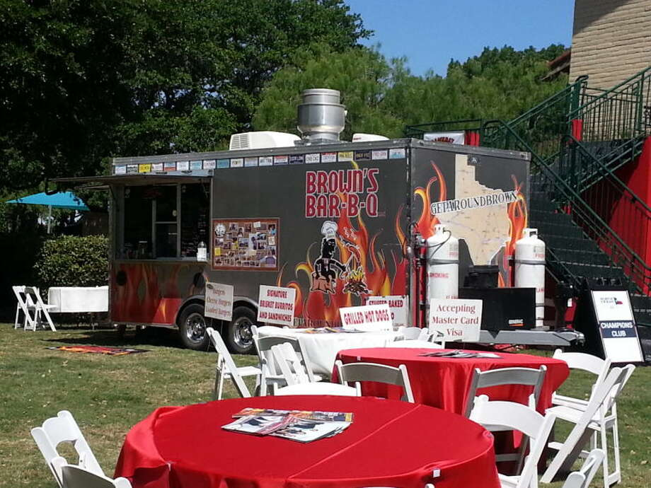 Todd Brown hopes his Brown's Bar-B-Q truck and eventually other food vendors will get noticed at his new First Fridays near downtown. Photo: Courtesy Photo