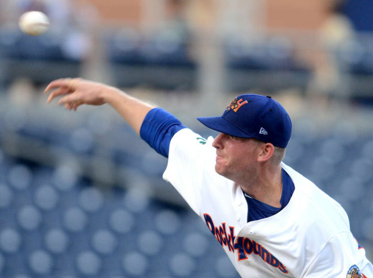 RockHounds starting pitcher Sean Murphy throws against Frisco at Citibank Ballpark. James Durbin/Reporter-Telegram