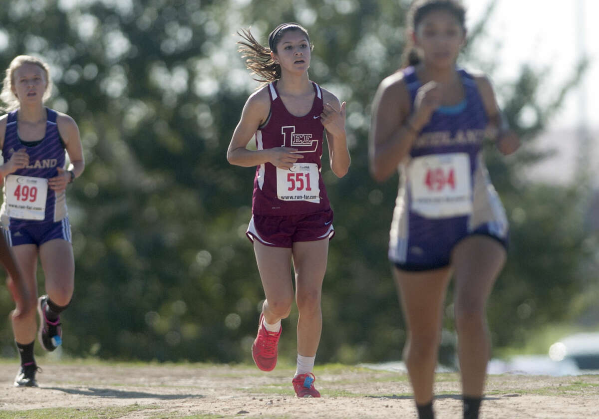 Lee's Thalia Balderas competes in the Tall City Cross Country Meet last year at Beal Park. James Durbin/Reporter-Telegram