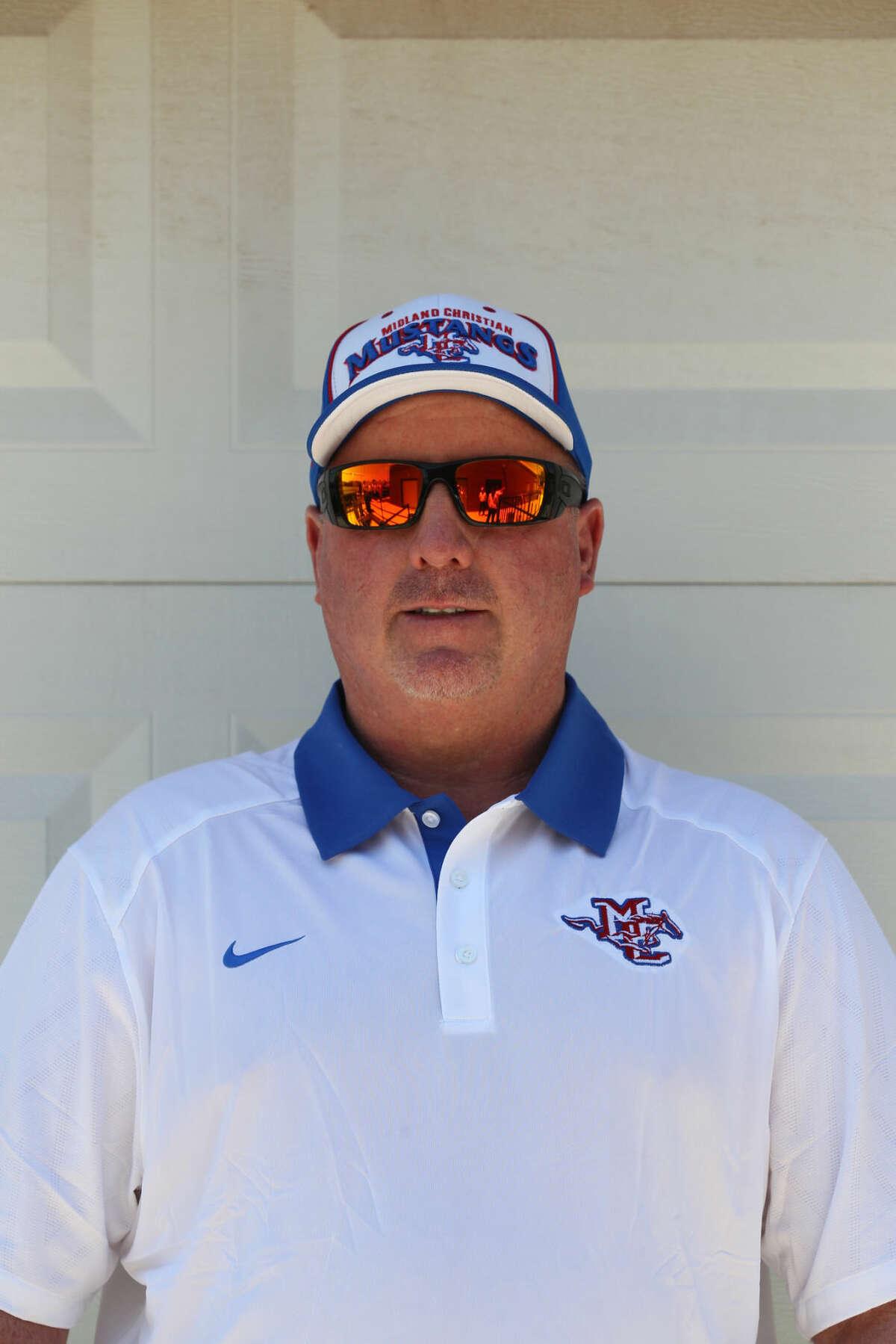Mug of Midland Christian football head coach Greg McClendon photographed Thursday, August 6, 2015 at Midland Christian. James Durbin/Reporter-Telegram