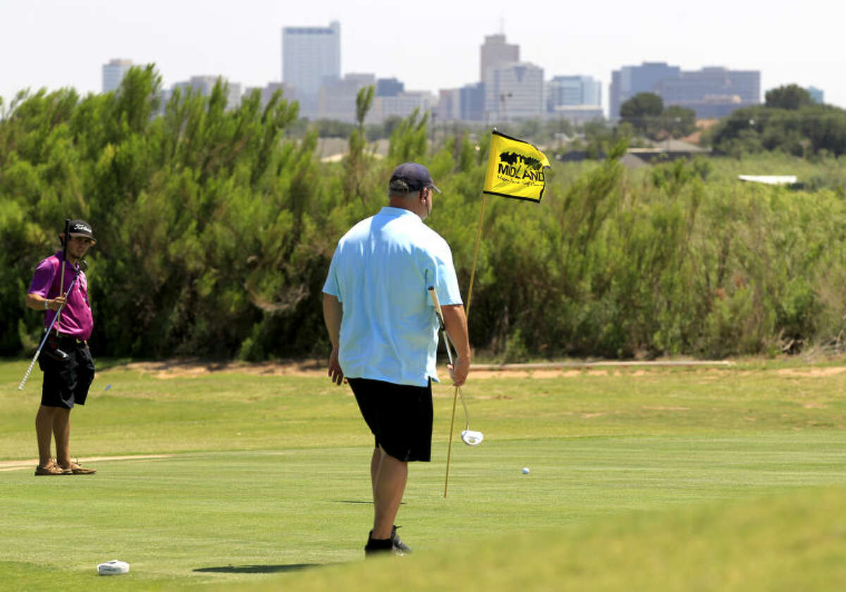 Hole 2 of the Roadrunner Course at Hogan Park (pictured) is one of several holes that will be reconstructed beginning in July. James Durbin/Reporter-Telegram