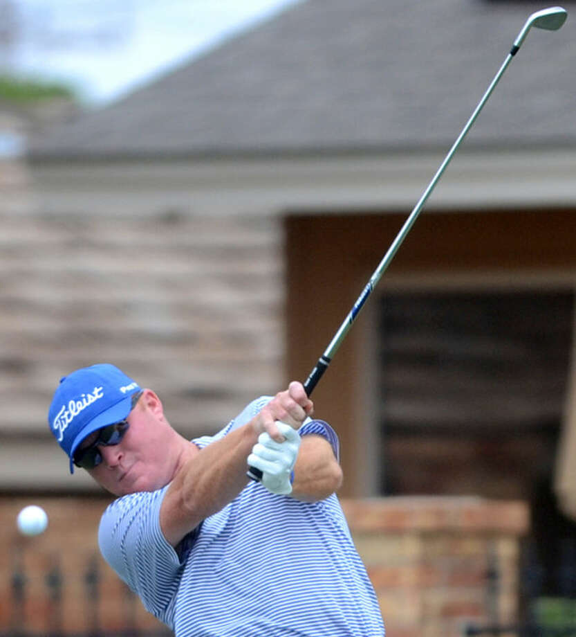 Shawn Reeves tees off during the Jamboree partnership tournament at Green Tree Country Club James Durbin/Reporter-Telegram Photo: James Durbin