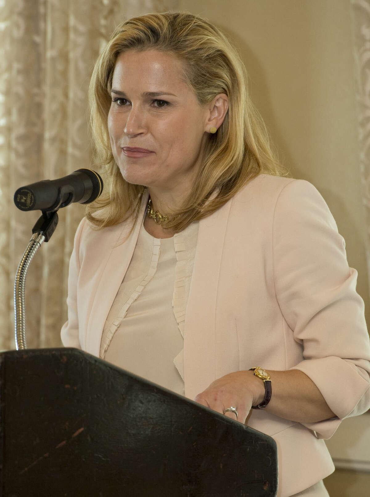 Heidi Cruz, wife of Presidential candidate Ted Cruz, speaks Wednesday 8-12-15 at the Midland County Republican Women's luncheon. Tim Fischer\Reporter-Telegram