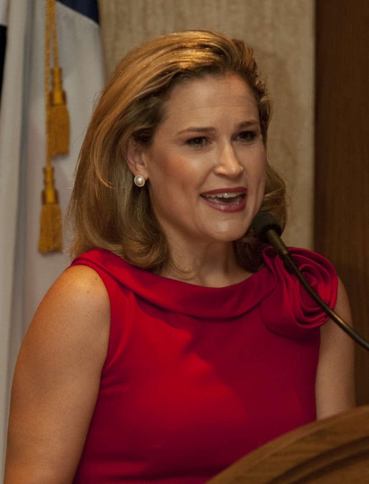 In this September 2013 file photo, Heidi Cruz, wife of Senator Ted Cruz, spoke at a Midland County Republican Women's luncheon. Tim Fischer\Reporter-Telegram