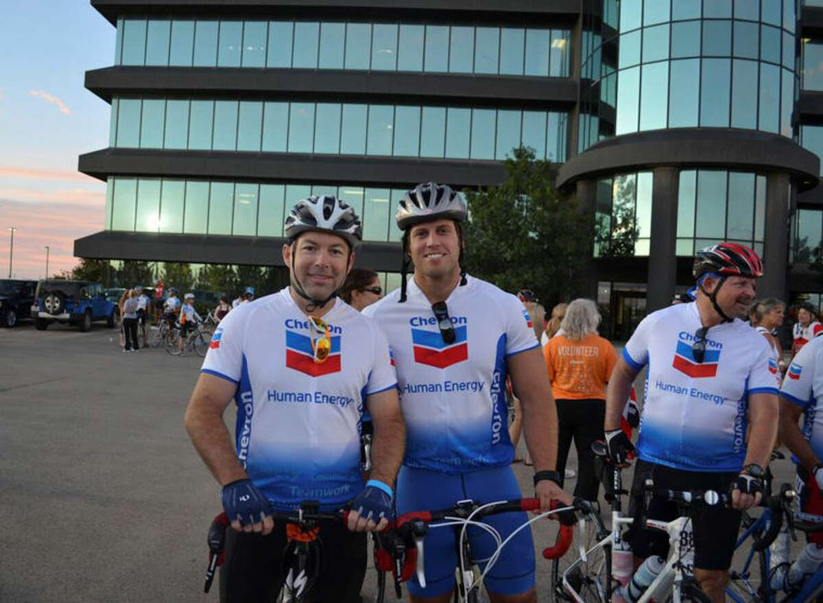 Marcus Parham and Jared Ivanhoe are part of the Chevron team that participated in last year's Bike MS: Cactus & Crude bike ride.