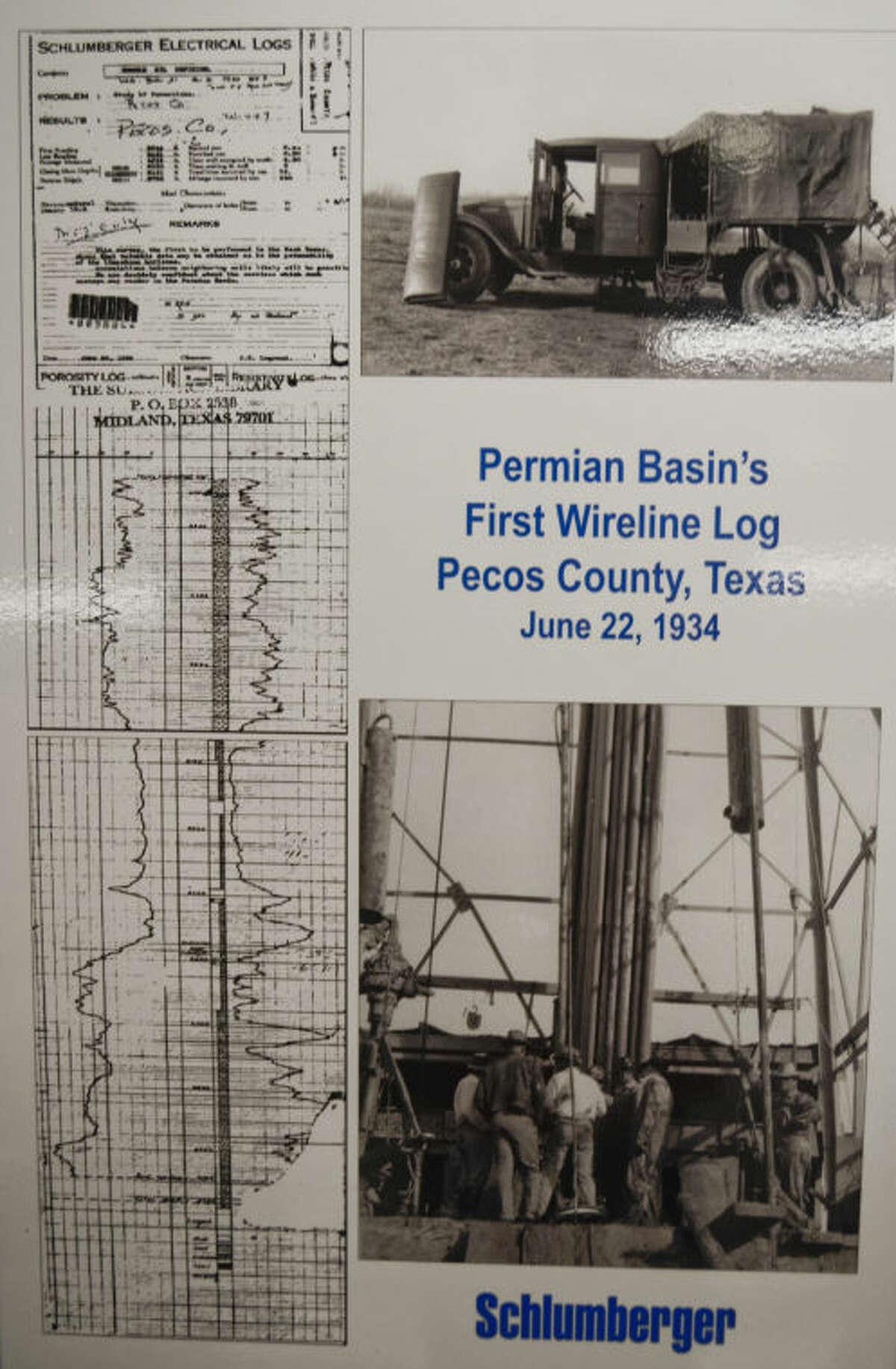A copy of the first Schlumberger wireline log dated June 22, 1934. Tim Fischer\Reporter-Telegram