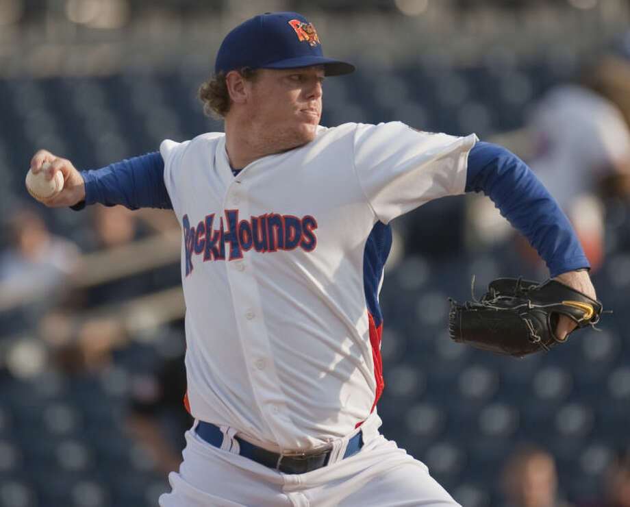 RockHounds' starting pitcher Shawn Haviland delivers a throw Friday night against the San Antonio Missions at Security Bank Ballpark. Tim Fischer\Reporter-Telegram Photo: Tim Fischer