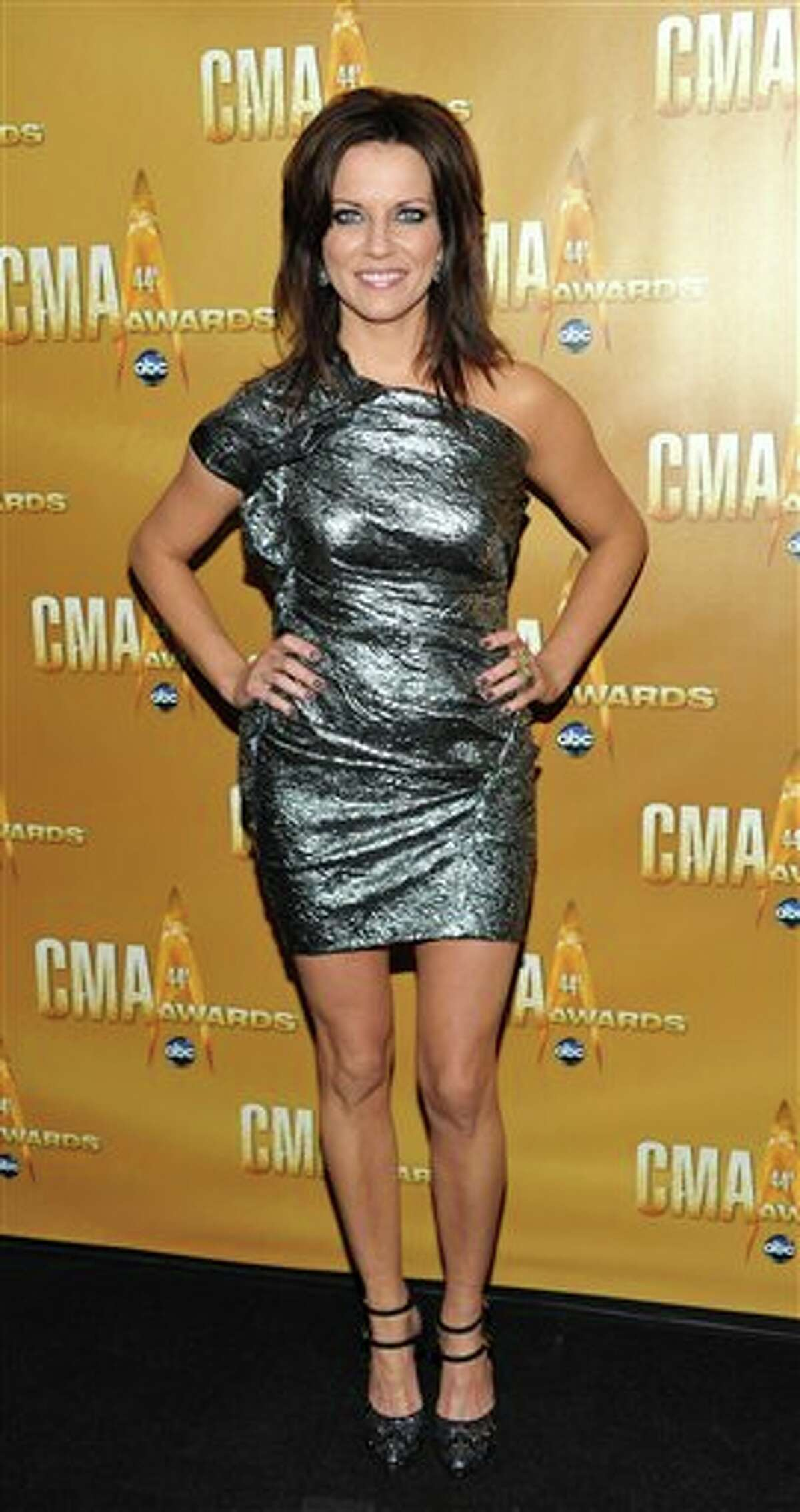 Singer Martina McBride attends the 44th Annual Country Music Awards in Nashville, Tenn. on Wednesday, Nov. 10, 2010. (AP Photo/Evan Agostini)
