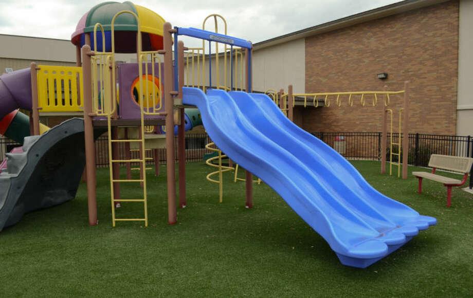 Playground equipment at Fannin Terrace Baptist Church will be utilized by students attending Jeremiah School. Tim Fischer\Reporter-Telegram Photo: Tim Fischer