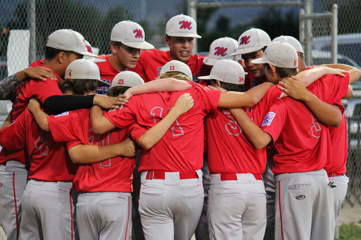 The Midland Mid City Intermediate All-Stars huddle during a game earlier this week in Grand Junction, Colo. The team beat Louisiana 12-8 in the Southwest Regional final on Friday to earn a spot in the Little League Intermediate 50/70 World Series in Livermore, Calif., next week.