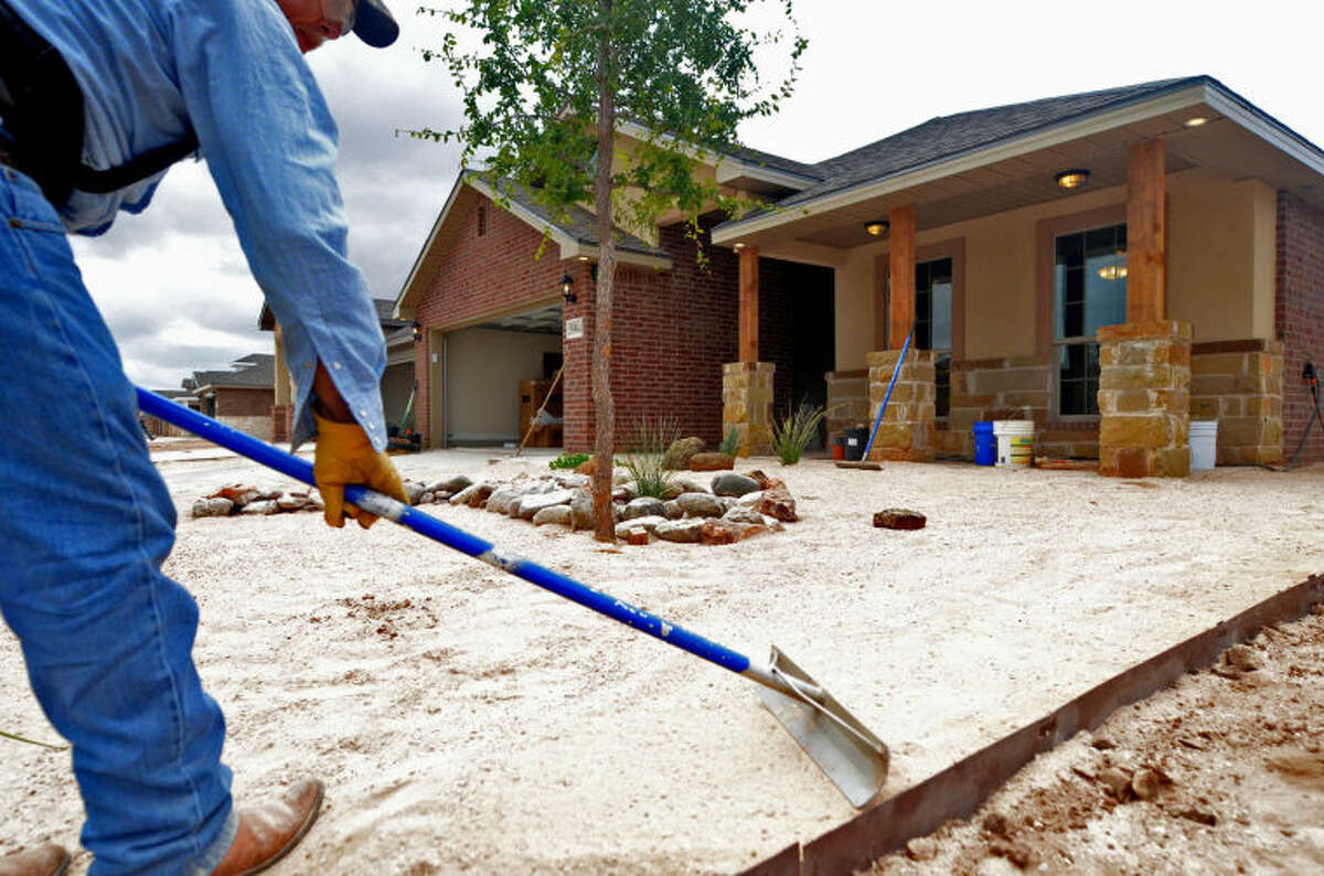 Construction at the Betenbough Homes subdivision located on Champions Drive near the sports complex. Photographed June 20, 2014. James Durbin/Reporter-Telegram