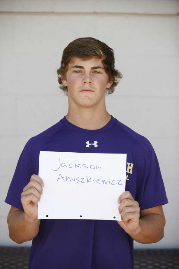 Midland High Varsity Football mug Jackson Anuszkiewicz Photo: James Durbin