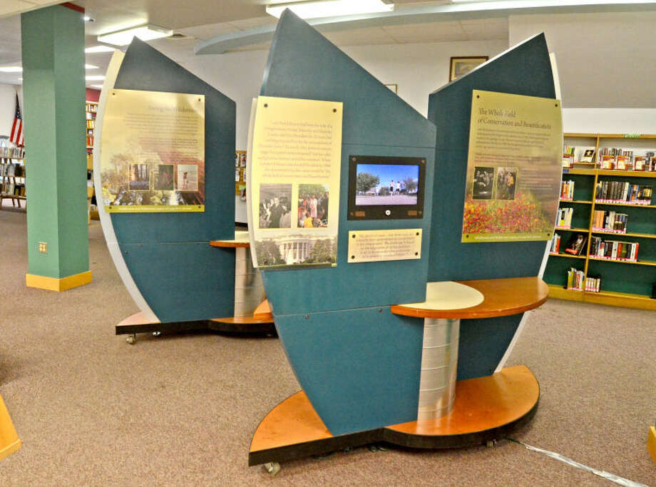 Lady Bird Johnson Wildflower exhibit at Midland County Public Library downtown location, photographed Monday. James Durbin/Reporter-Telegram Photo: James Durbin