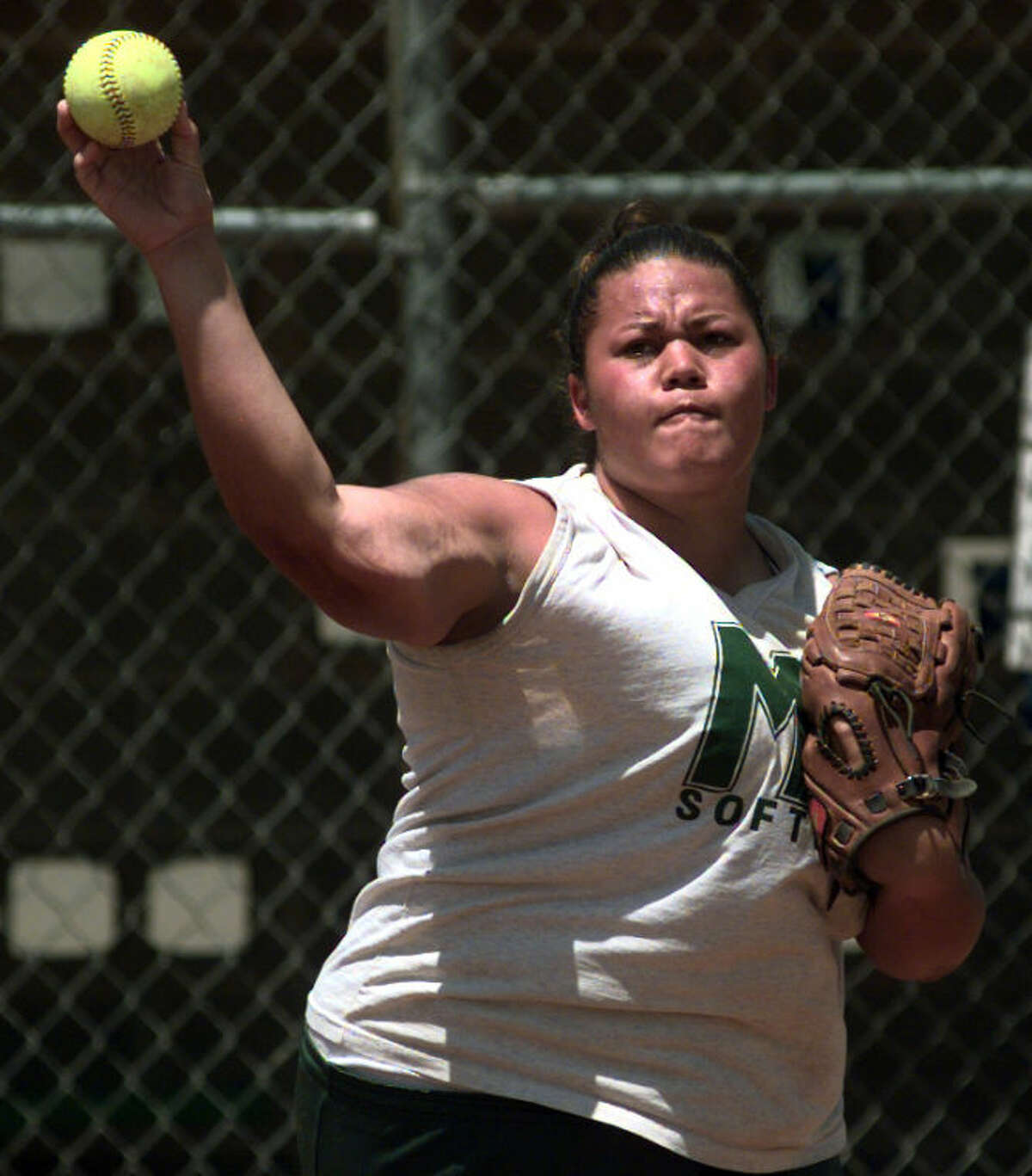 Tiala Tagaloa, seen here during her playing days at Midland College in 2001, was named the new softball coach at UTPB on Wednesday.Photo by Tim Fischer 5/1/01